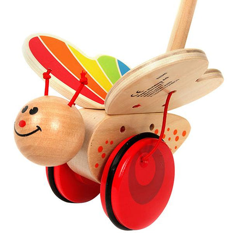 Wooden push and pull butterfly | Hape toys | Lucas loves cars
