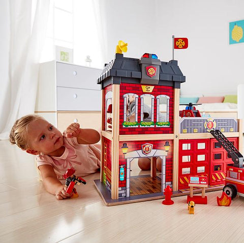 City Fire Station | Hape |  Lucas loves cars