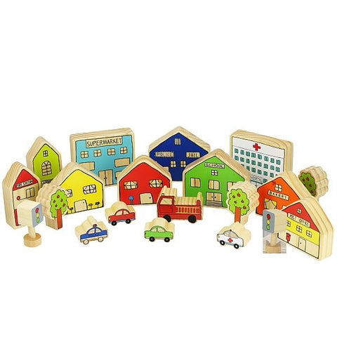 Happy Architects Busy Village |  Wooden village toys  |  Lucas loves cars