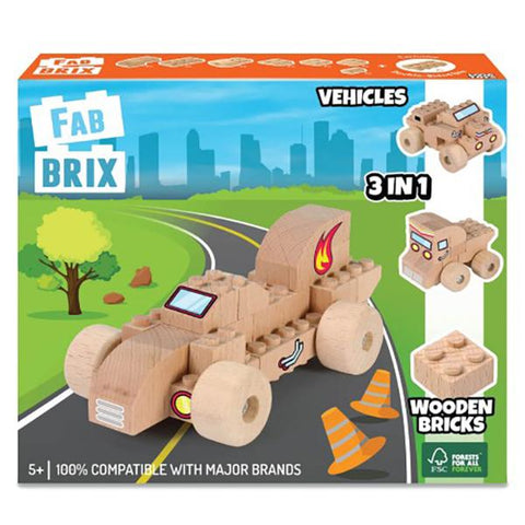 FabBrix Vehicles | wooden bricks | eco toys | lucas loves cars