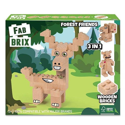 FabBrix Forest Friends | wooden bricks | eco toys | lucas loves cars