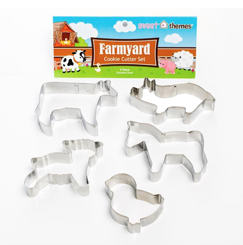 Farmyard biscuit cutters | Sweet Themes |  Lucas loves cars