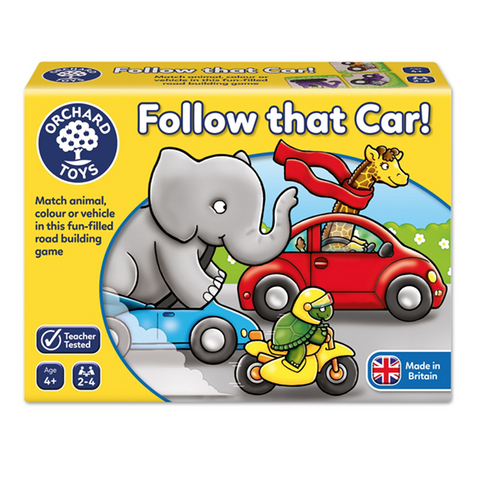 Follow that car | orchard toys |  Lucas loves cars