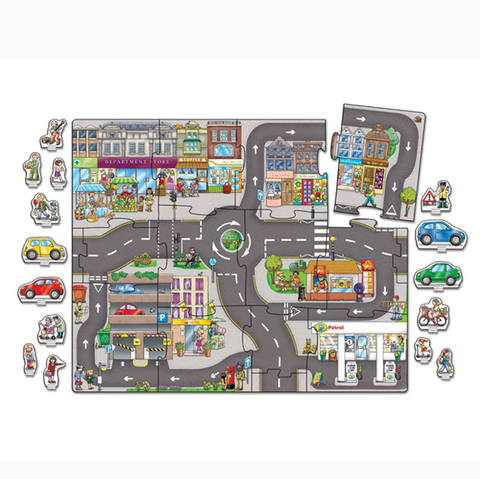 Giant Town Jigsaw 15 pce | orchard toys |  Lucas loves cars