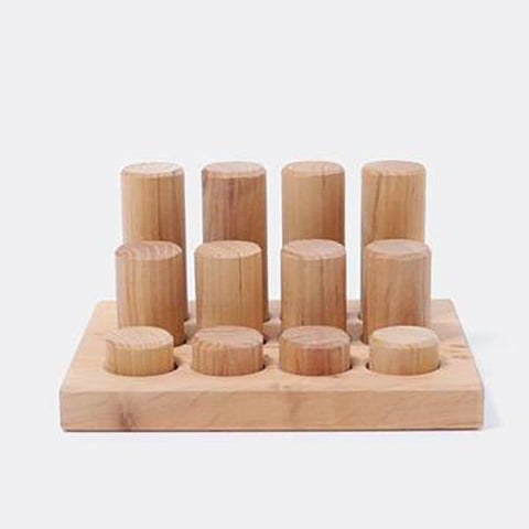 Grimms | Stacking Game Small Natural Rollers | Wooden toys | Lucas loves cars