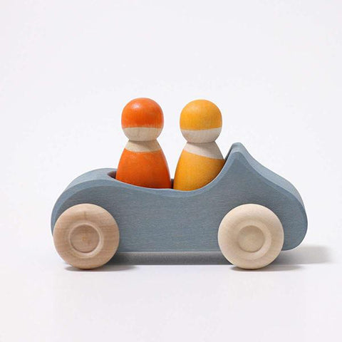 Convertible car blue | Grimms wooden toys | Lucas loves cars