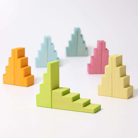 GRIMMS -  Stepped Roofs Pastel blocks