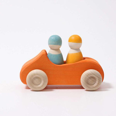 Convertible car orange | Grimms wooden toys | Lucas loves cars