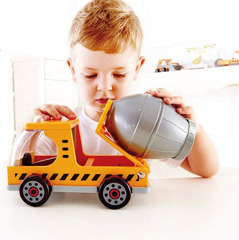Wooden Cement Truck Toy | Hape |  Lucas loves cars