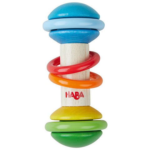 rainbow wooden rattle |  baby gifts | Lucas loves cars