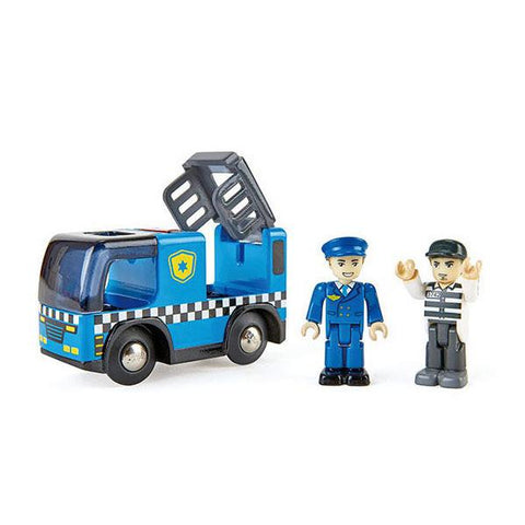 Police truck with siren | Hape Police car | Police car toy | Lucas loves cars