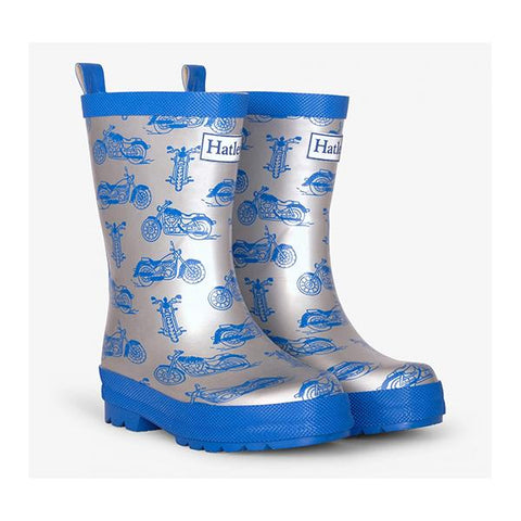 Hatley Rainboots | Motorcycle gumboots  | boys Gumboots | Lucas loves cars