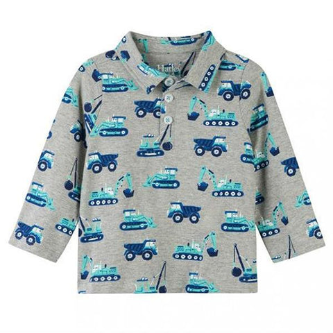 Hatley | Construction trucks kids Polo tshirt | Lucas loves cars