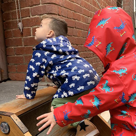 Hatley kids raincoat | Monster truck rain jacket | Lucas loves cars