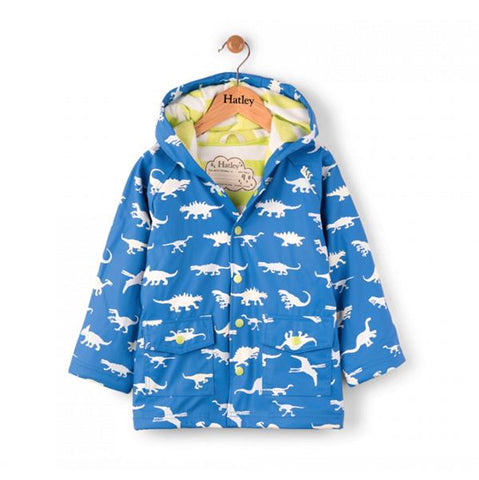 Hatley - Raincoat - DInosaur colour change | Hatley |  Lucas loves cars