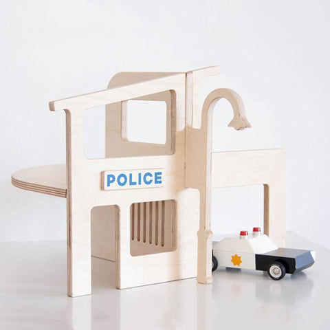 Wooden Police station | hand MAde wooden toys | Lucas loves cars