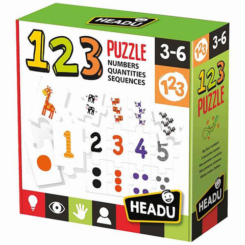 Headu 123 puzzle | Educational toys | Montessori puzzle  | Lucas loves cars
