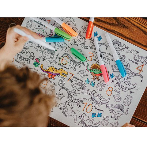 HeyDoodle Dino Roar | Hey Doodle placemat | Dinosaur placemat | Lucas loves cars