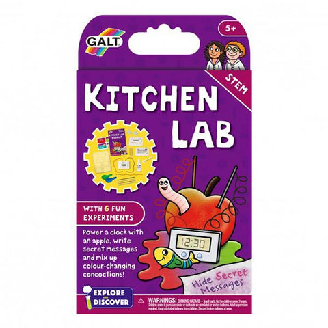 Kitchen lab | Galt Science kit | Lucas loves cars