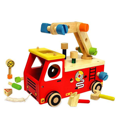 Fire Engine Builder | Fire truck toy |  Lucas loves cars
