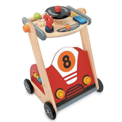 Wooden Racing Car Walker | Toddler Wooden walker  | Lucas loves cars