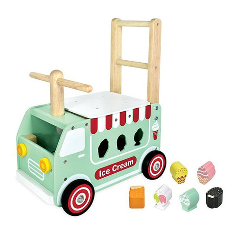 Walk and Ride Ice Cream Van | Shape sorter | Walker | Lucas loves cars