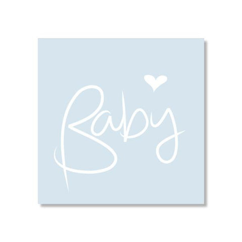 Cards - Small - Baby script Blue | Just Smitten |  Lucas loves cars