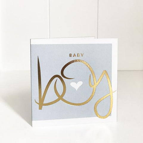 Cards - Small - Baby Boy foil | Just Smitten |  Lucas loves cars