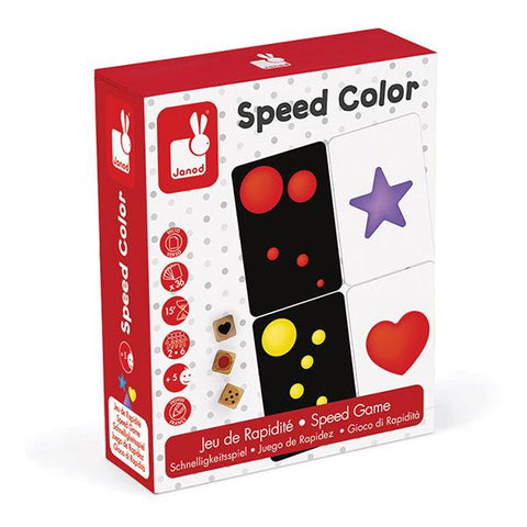 Janod games | Speed Game Speed Colour | Lucas loves cars