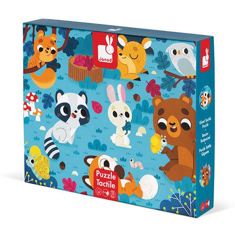 Janod jigsaw | Tactile Forrest Animals  jigsaw | Jigsaws for kids | Lucas loves cars