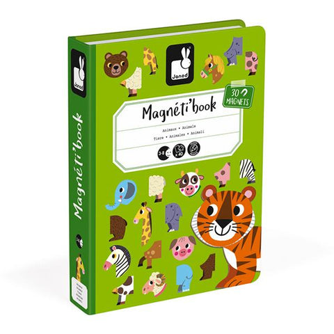 Magnetibook Animals| Janod toys | Educational toys | Lucas loves cars