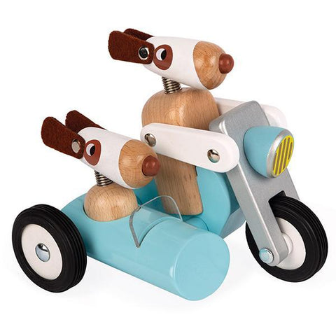 Janod Spirit Sidecar Philip  | Wooden toys | Janod toys | Lucas loves cars