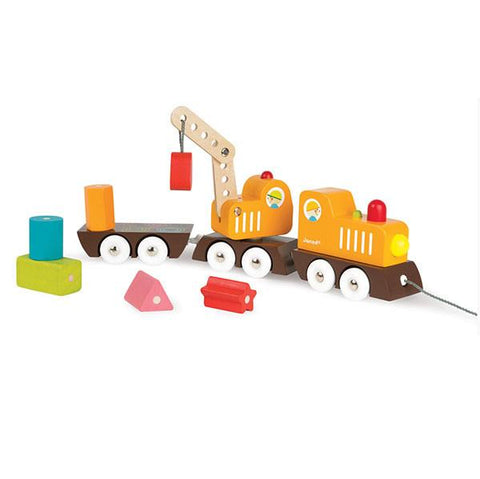 Janod Train and Crane | Wooden toys | Lucas loves cars