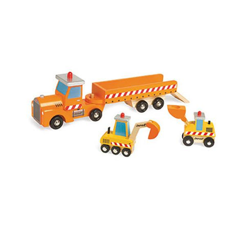 Construction Truck Transporter | Janod |  Lucas loves cars
