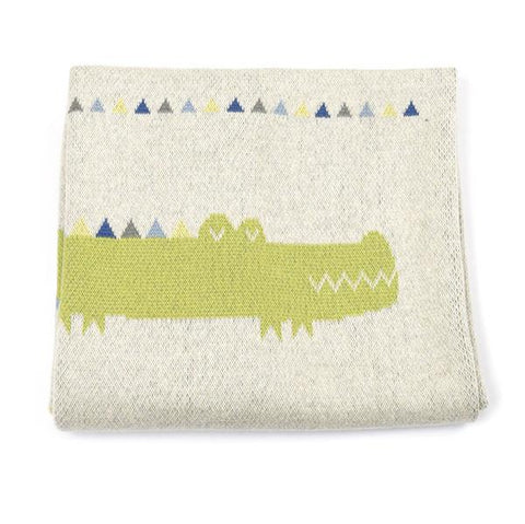 Baby blanket - Crocodile | Indus design |  Lucas loves cars