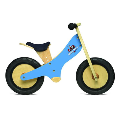 Kinderfeets wooden balance bike - BLue | Lucas loves cars