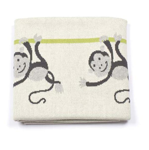 Baby blanket - Monkeys | Indus design |  Lucas loves cars