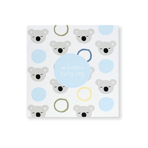 koala baby blue card | Birthday card | Lucas loves cars
