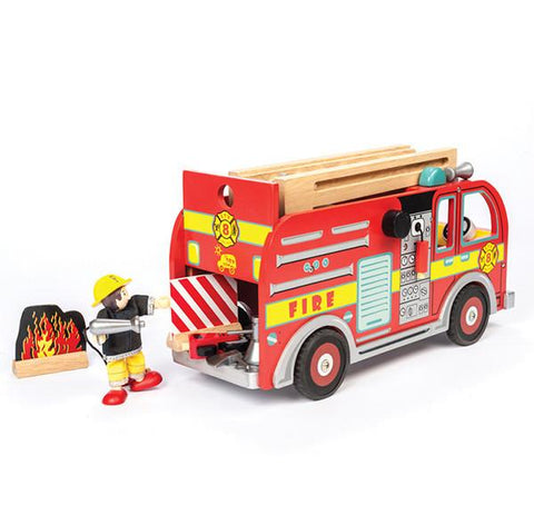 Fire Engine Playset | Le Toy Van |  Lucas loves cars