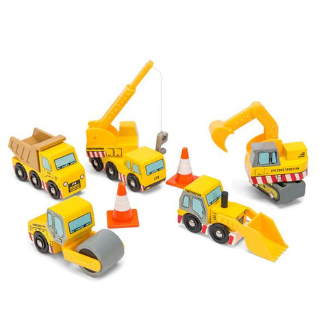 Construction crew set | Le Toy Van |  Construction trucks | Lucas loves cars