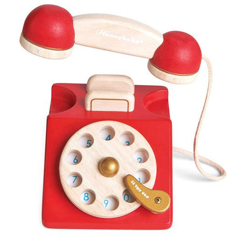 Vintage Wooden phone toy | LE toy van | Lucas loves cars