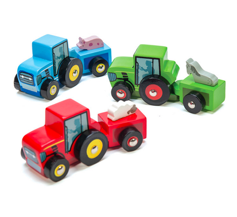 Little wooden Tractors