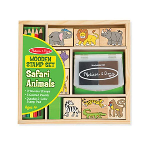 Melissa and doug | Wooden safari stamp set | Lucas loves cars