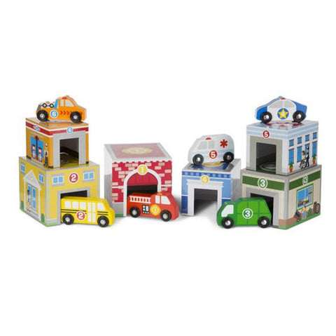 Melissa and doug | Nest blocks Buildings | Lucas loves cars