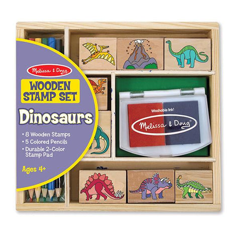 Dinosaurs Stamp Set | Melissa and Doug |  Dinosaur toys | Lucas loves cars