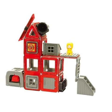 Magformers Amazing Rescue Fire station  | Fire Engine toy | Lucas loves cars