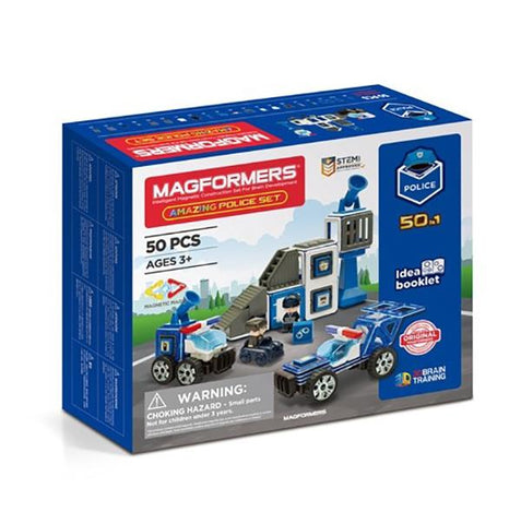 Police car toys  | Magformers STEM toy | Lucas loves cars