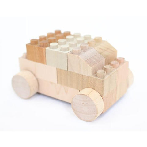 Bubu cars | Mokulock wooden building bricks | Lucas loves cars