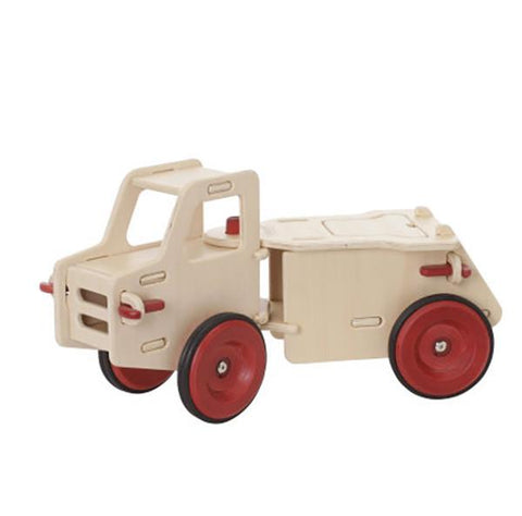 Wooden Dump Truck ride on | Moover | Lucas loves cars