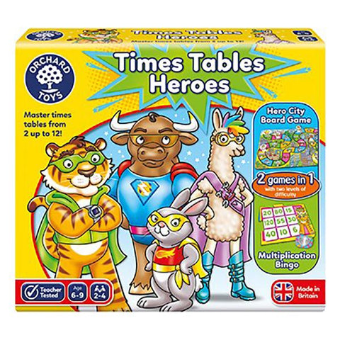 Orchard Toys | Times Tables Heroes | Board games | Lucas loves cars